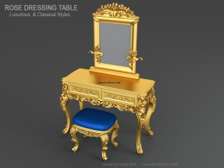 DRESSING TABLE 004 | STL – 3D model for CNC