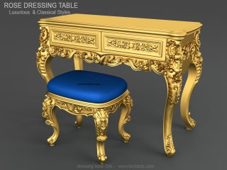 DRESSING TABLE 004 | STL – 3D model for CNC