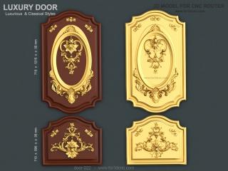 DOOR 022 | STL – 3D model for CNC