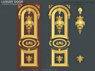 DOOR 023 | STL – 3D model for CNC