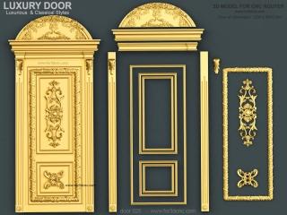 DOOR 025 | STL – 3D model for CNC