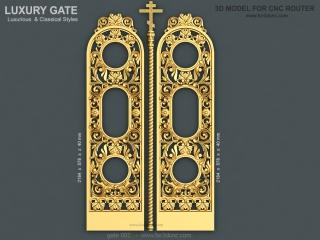 GATE 002 | STL – 3D model for CNC