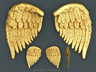 ANGEL WINGS 001 | STL – 3D model for CNC