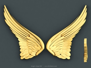 ANGEL WINGS 002 | STL – 3D model for CNC