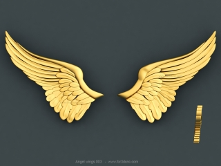 ANGEL WINGS 003 | STL – 3D model for CNC