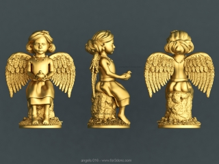 ANGELS 016 | STL – 3D model for CNC