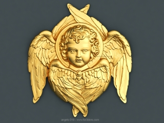 ANGELS 018 | STL – 3D model for CNC