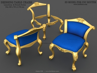 chairs 036 www for3dcnc com 320x240 - CHAIRS 036 | STL – 3D model for CNC
