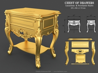chest of drawers 004 www for3dcnc com 320x240 - CNC MODEL