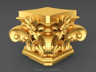 COLUNM 022 | STL – 3D model for CNC