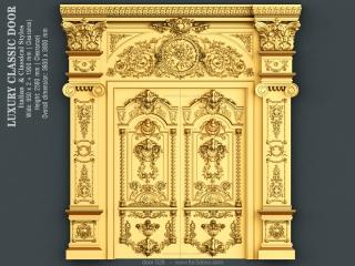 DOOR 026 | STL – 3D model for CNC