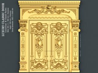 DOOR 027 | STL – 3D model for CNC