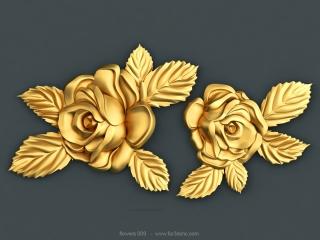 FLOWERS 009 | STL – 3D model for CNC