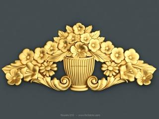 FLOWERS 010 | STL – 3D model for CNC