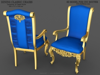 CHAIRS 047 | STL – 3D model for CNC