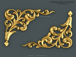 DECOR 093 | STL – 3D model for CNC