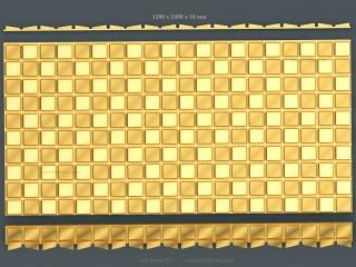 3D PANEL 071   STL – 3D model for CNC