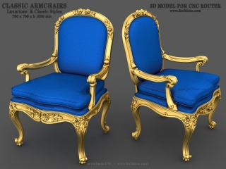 ARMCHAIRS 016 | STL – 3D model for CNC