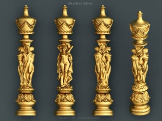 BALUSTERS 112 | STL – 3D model for CNC
