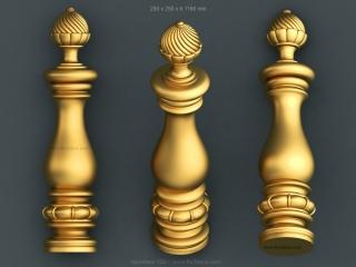 BALUSTERS 129 | STL – 3D model for CNC