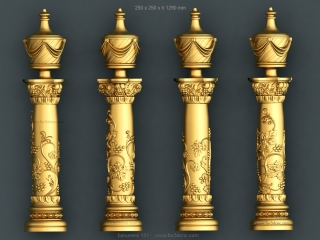 BALUSTERS 131 | STL – 3D model for CNC