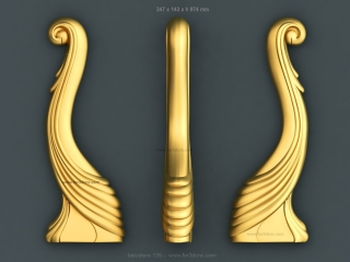 BALUSTERS 135   STL – 3D model for CNC