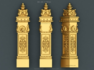 balusters 145 www for3dcnc com 320x240 - CNC MODEL