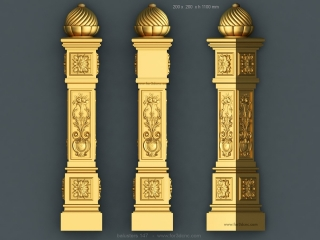 balusters 147 www for3dcnc com 320x240 - CNC MODEL