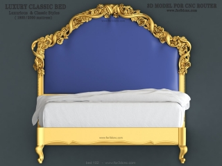 BED 102 | STL – 3D model for CNC