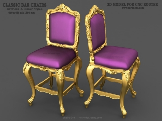 CHAIRS 049   STL – 3D model for CNC