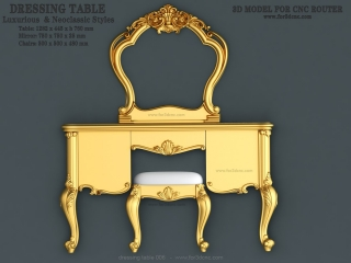 DRESSING TABLE 006 | STL – 3D model for CNC