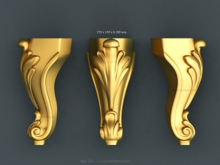 LEGS 221 | STL – 3D model for CNC