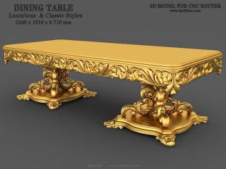 TABLE 054 | STL – 3D model for CNC