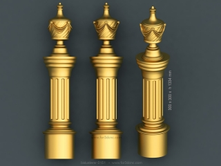 balusters 0151 www for3dcnc com 320x240 - BALUSTERS 151 | STL – 3D model for CNC