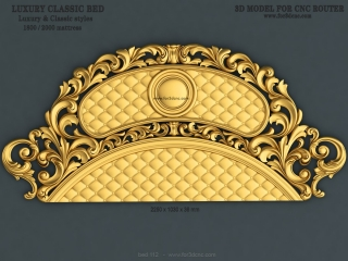 BED 112 | STL – 3D model for CNC