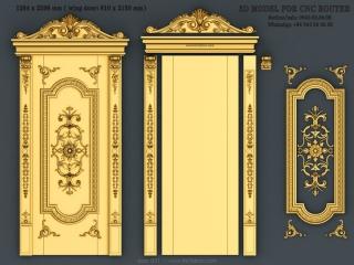 door 031 www for3dcnc com 320x240 - DOOR 031 | STL – 3D model for CNC