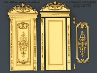 DOOR 032 | STL – 3D model for CNC