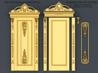 DOOR 033 | STL – 3D model for CNC