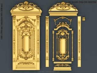 DOOR 036 | STL – 3D model for CNC
