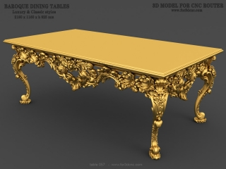 TABLE 057 | STL – 3D model for CNC