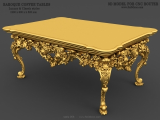 TABLE 058 | STL – 3D model for CNC