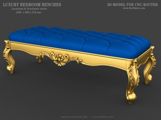 BEDROOM BENCHES 005 | STL – 3D model for CNC