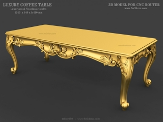TABLE 059 | STL – 3D model for CNC