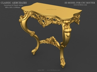 TABLE 060 | STL – 3D model for CNC