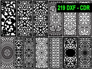 219 CNC Vector DXF – CDR  VOL 16