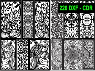 220 CNC Vector DXF – CDR  VOL 17