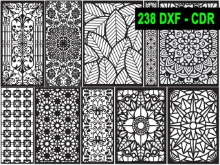 238 CNC Vector DXF – CDR  VOL 18