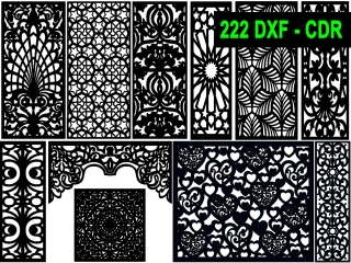 222 CNC Vector DXF – CDR  VOL 20