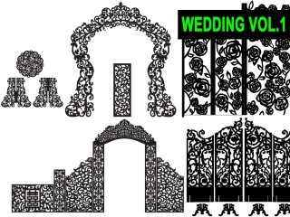 DXF – CDR VECTOR WEDDINGS VOL.1