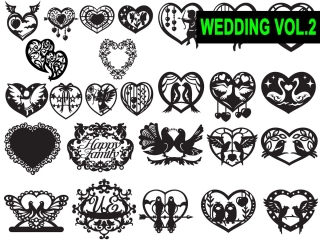 DXF – CDR VECTOR WEDDINGS VOL.2